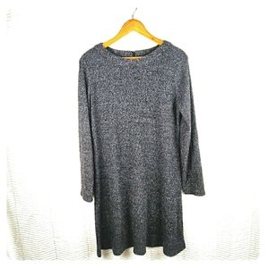 Chaps Gray Scoop Neck Sweater Dress Size XL